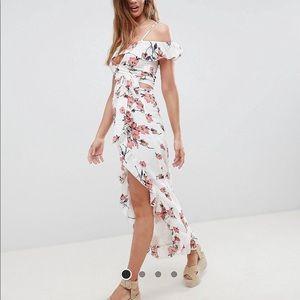Glamorous Maxi Skirt and Bralette Two Piece Set